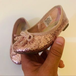 Gap flats Rose gold sz baby girl  6 glitter